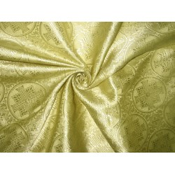 SILK BROCADE vestment FABRIC Butter Gold 44""