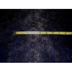 Silk Brocade Vestment Fabric Navy Blue & Black