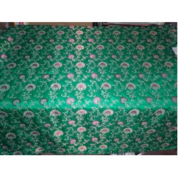 "54"" wide silk x viscose & mettalic fabric brocade/jacquard"