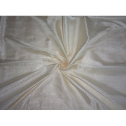 viscose Silk  Brocade Fabric Ivory White-boomerang