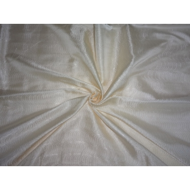 "Silk  Brocade Fabric Ivory White-44""BRO357[2]"