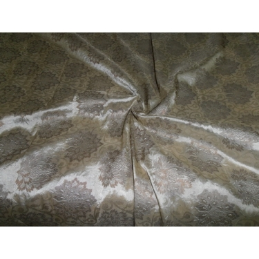 "Silk Brocade Fabric beige / dark beige  44""*"
