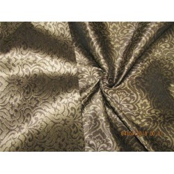 reversible Brocade Fabric brown x Gold 54'' Bro562[4]