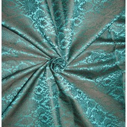"Brocade Fabric Black x green Color 44"" bro549[1]"