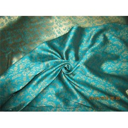 Reversible Brocade fabric green x gold 56'' BRO563[4]