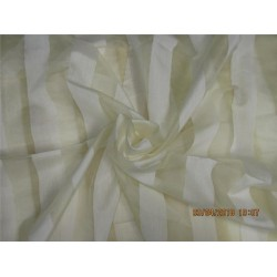 "silk organza stripe  natural ivory color 44""width"