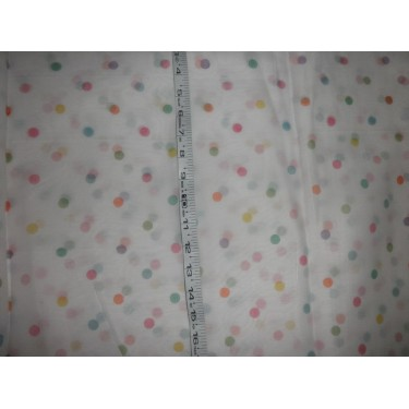 "soft feel cotton lawn printed 44"" wide~multi polka"