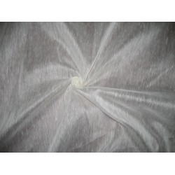 "off White  silk organza / linen fabric 54"" wide sold by the yard"