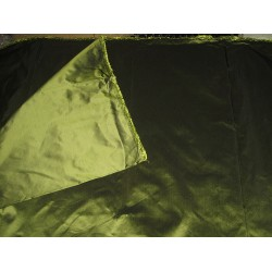 100% Pure SILK TAFFETA FABRIC African green shot TAF181[1]