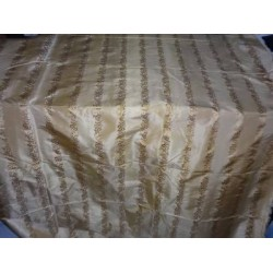 silk taffeta jacquard~shades of gold / brown 54""