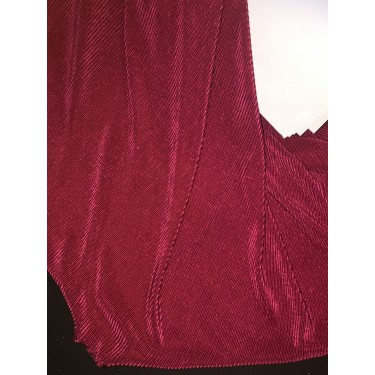 Crushed polyester satin fabric BURGUNDY color 59''wide FF11[8]