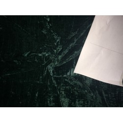 "100% crushed Velvet fabric 44"" bottle  green"