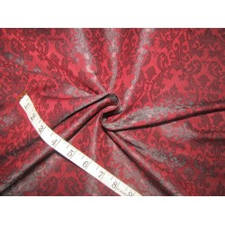 "Silk Brocade fabric wine    BRO737[1]   44 "" wide  by the yard"
