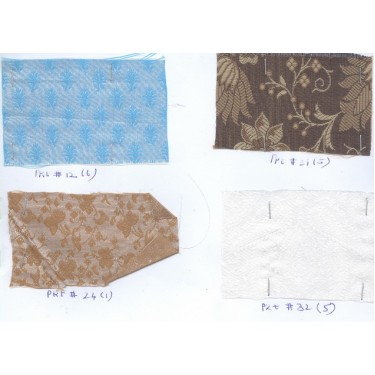 Sample swatches-4 brocade swatches for usd$15{inclusive of airmail}