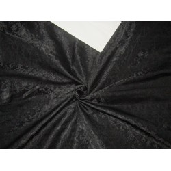 "Brocade fabric jet black  Color*44"" wide BRO188[7]"