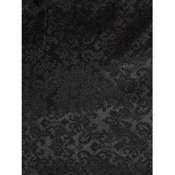 "Spun  Brocade fabric jet black  Color*44"" wide BRO188[7]"
