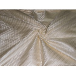100% PURE SILK viscose SILK BROCADE FABRIC rich cream color 44""