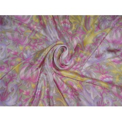 pure silk CDC crepe DIGITAL printed fabric 16 mm weight B2#101A[12]