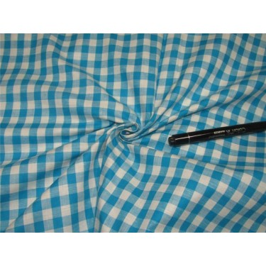 100% Cotton Yarn Dyed CheckS Mill Made 58'' wide blue x white
