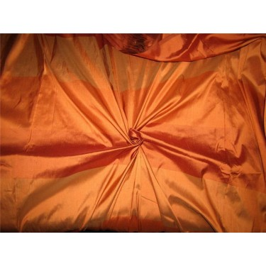 Silk Dupioni Fabric Shades of Orange color stripe 54'' Wide Pkt#S58