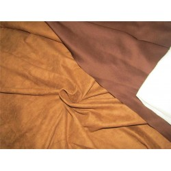 "Scuba Suede Knit fabric 59"" wide- fashion wear brown color #15"