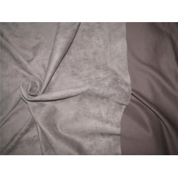 "Scuba Suede Knit fabric 59"" wide- fashion wear GREY color # A1"