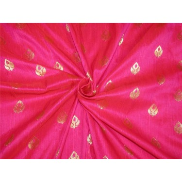 "Brocade fabric Pink x metallic Gold Color 44""BRO597[4]"