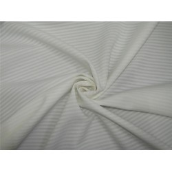 "White neoprene/ striped scuba fabric 58"" wide-thin"