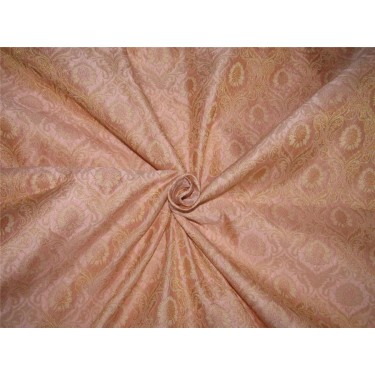 """Brocade fabric Dusty pink x metallic gold color 44"""" wide by the yard bro616[3]"""