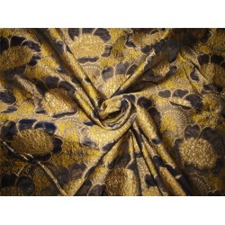 "Brocade fabric navy x metallic gold color 60"" wide bro616[2] by the yard"
