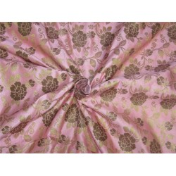 "Brocade fabric Pink x metallic Gold 44"" BRO599[4]"