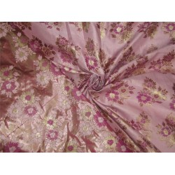 "Brocade pink champagne lilac X metallic gold color 48"" BRO600[4]"