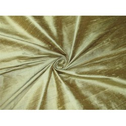 "100% Pure SILK Dupioni FABRIC gold color 54"" with slubs*MM75[7]"