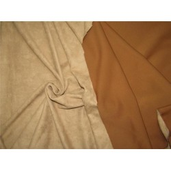 "Scuba Suede Knit fabric 59"" wide- fashion wear light brown color #17"