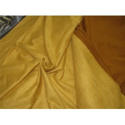 "Scuba Suede Knit fabric 59"" wide- fashion wear camel gold color #19"
