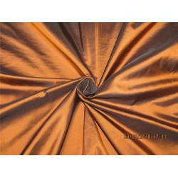 100% Pure Silk Taffeta Fabric Copper x black color 54''wide TAF#290[4]