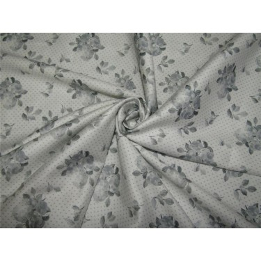 "100% COTTON SATIN 58""IVORY & GREY Color print USING DISCHARGE PRINTING METHOD"