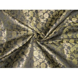 "Brocade fabric black x metallic gold color 44""wide bro610[1]"