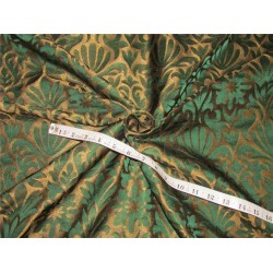 "Brocade fabric green antique gold color 44""wide bro609[2]"