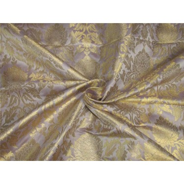 "Brocade fabric Dusty rose pink x metallic gold color 44""wide bro611[2]"