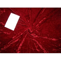 2.50 yds cut piece Chinese Plush Silk Velvet. 28% silk, 72% rayon DARK RED