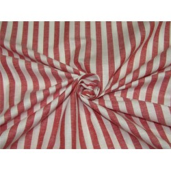 100% Cotton Yarn Dyed Stripe Mill Made 58'' wide red x white