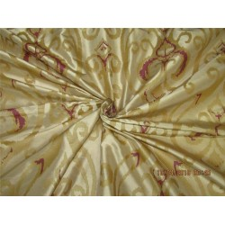"100% Dupion gold x pink color silk print 54"" dupPR39[1]"