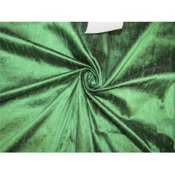 "100% Pure SILK Dupioni FABRIC Green x black color 54"" with slubs*MM75[4]"