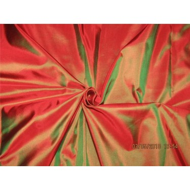 """100% Pure Silk Taffeta Fabric Red x green color  TAF#290[5] 54"""" wide sold by the yard"""