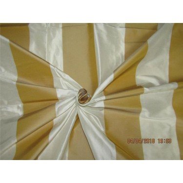 Silk Dupioni Stripe Fabric Ivory & pale yellow 54''wide DUP# S59[6]