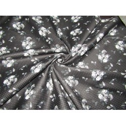 "100% COTTON SATIN 58""ivory & black Color print USING DISCHARGE PRINTING METHOD"
