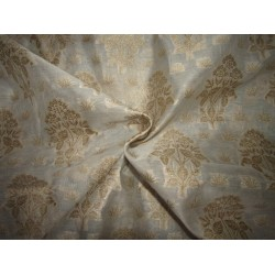 Silk Cotton Chanderi Fabric Natutal ivory x metallic gold 44'' wide id=10265