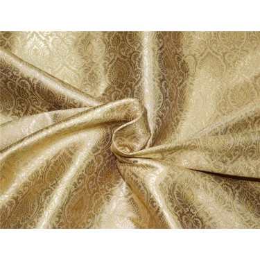 Brocade fabric gold x metallic god color 44''wide Bro662B[4]