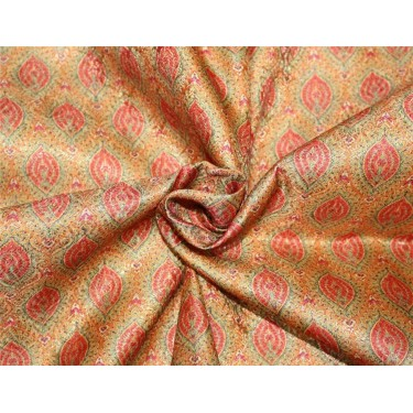 Brocade fabric mustard and orange color 44''wide BRO660[3]